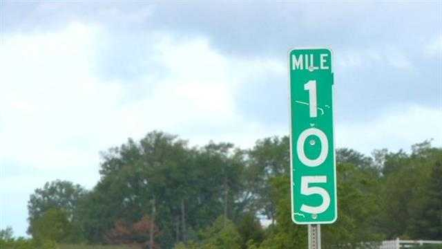 Interstate mile marker