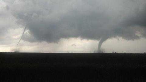 Two tornadoes near Hampton on June 12.