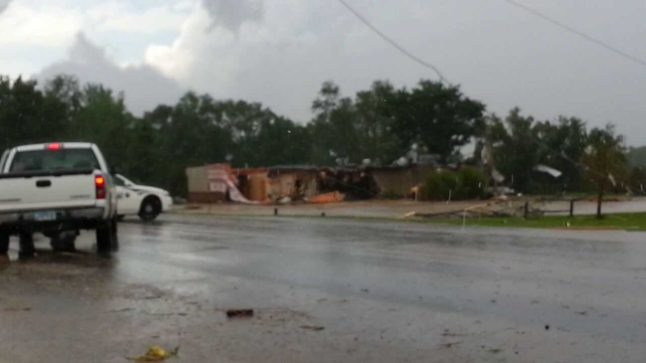 Cattleman's Restaurant and Provisions damaged during storm in Belmond on June 12.