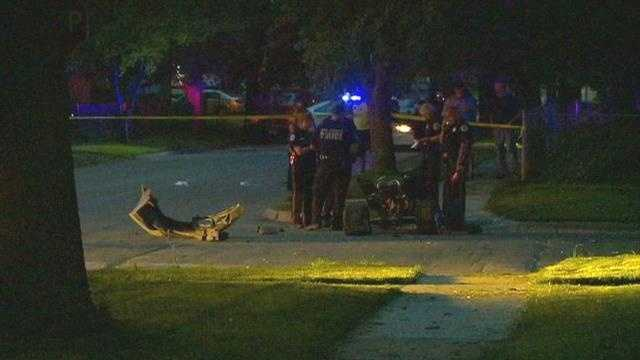An ATV driver was critically injured in a crash with a car Thursday night.