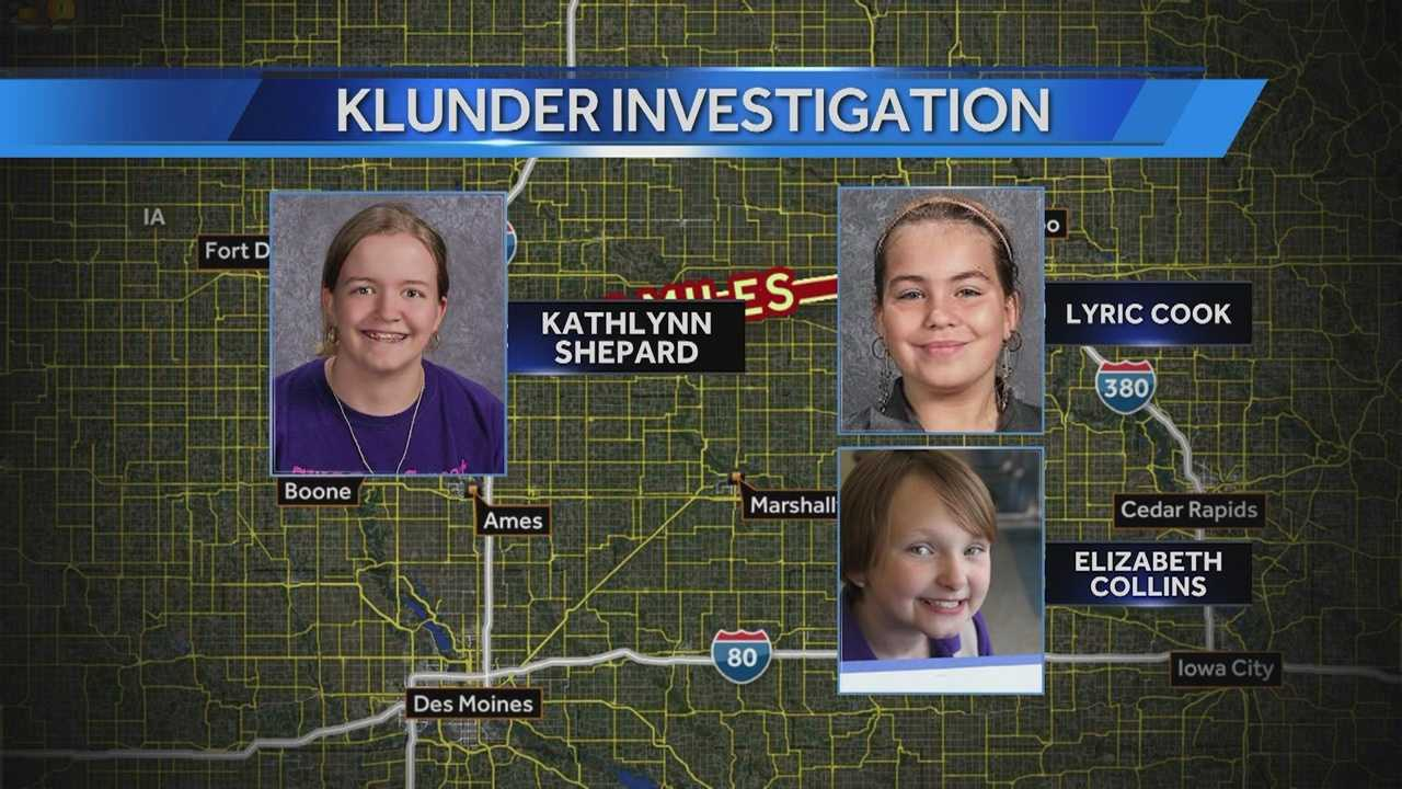 The family of a 12-year-old who escaped from Michael Klunder believes the man is capable of kidnapping and killing two cousins in Evansdale.