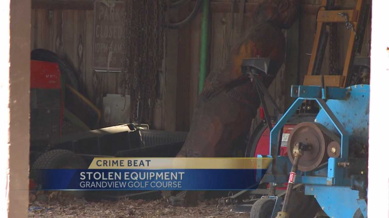 Tens of thousands of dollars in mowing equipment were stolen from a golf course on Des Moines' east side.