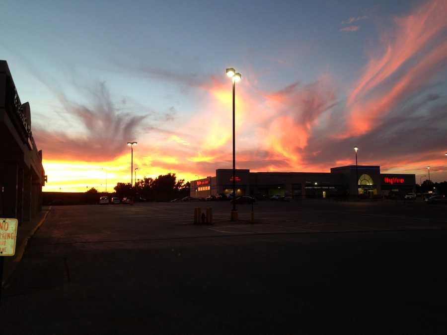 Sunset in Carroll, Iowa.