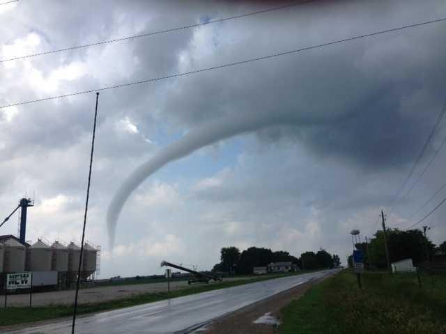 Archive photo: Funnel cloud captured near Vincent, Iowa.