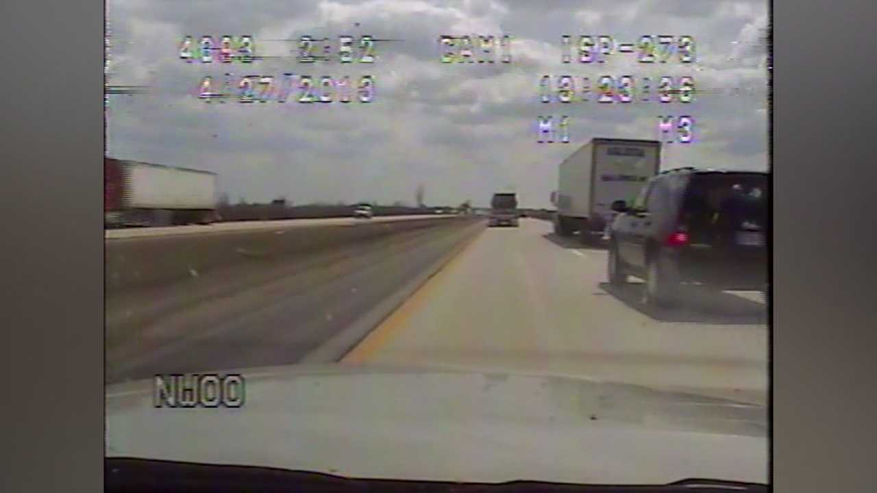 Video of a trooper following a speeding SUV carrying Gov. Terry Branstad.