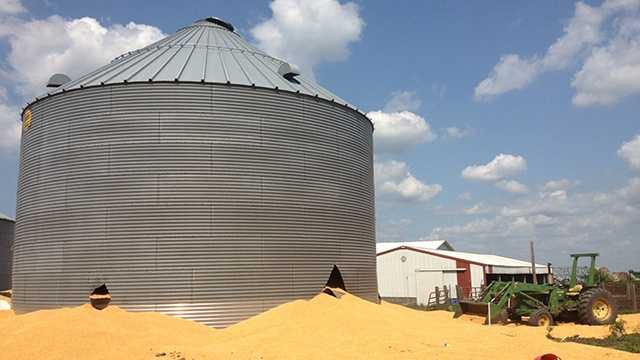 Grain bin rescue near Dayton.