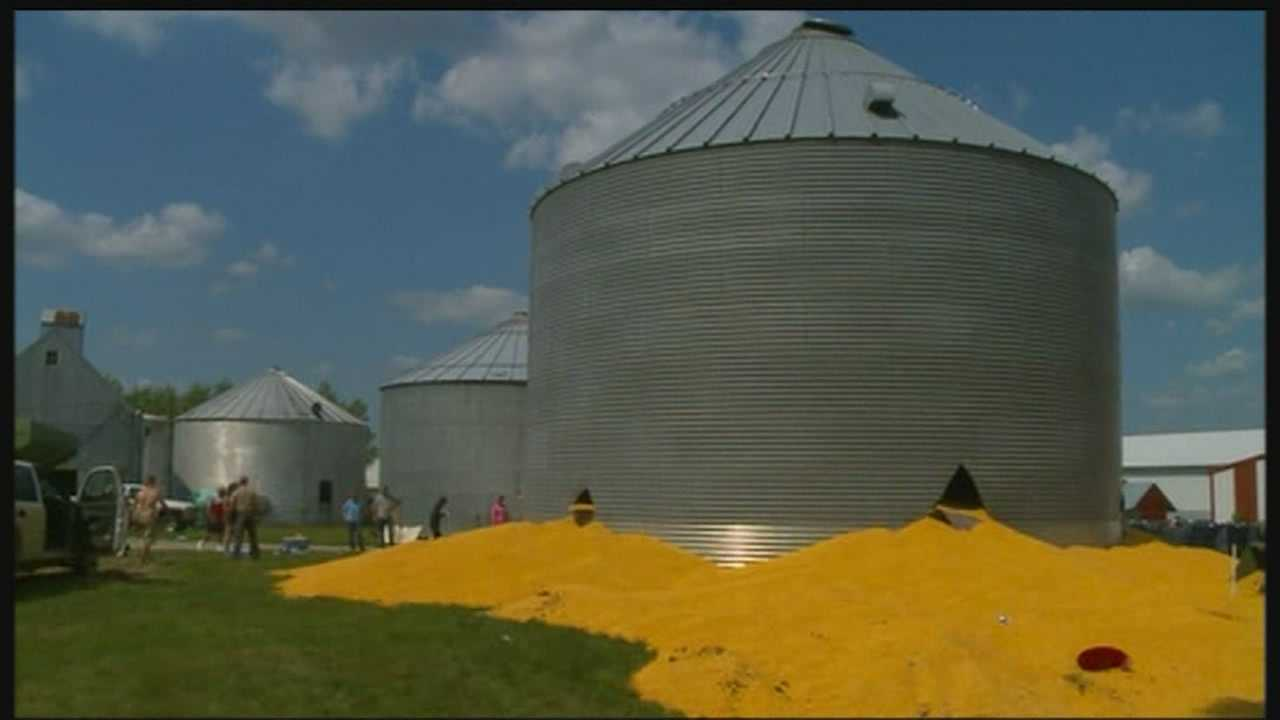 Multiple rescue crews were called to a grain bin rescue near Dayton.