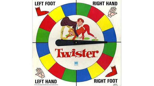 Twister game spinner