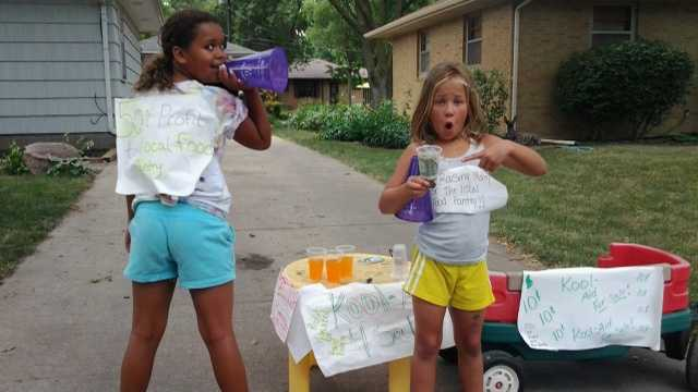Roadside Kool-Aid stand raises money for food pantry.