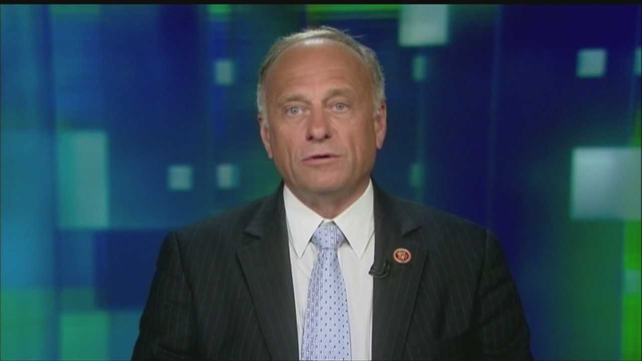 Republican U.S. Rep. Steve King of Iowa is drawing criticism for comments he made to a news website about people in the country illegally.