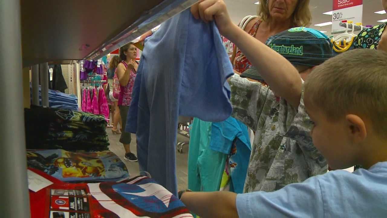 Iowans are cashing in on the tax free holiday on clothing and school items.