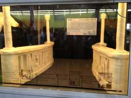 Iowa State Fair, part of the butter Lincoln sculpture -- bridge