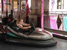 Bumper cars at the Iowa State Fair