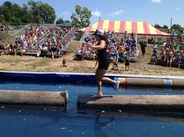 Iowa State Fair lumberjack competition