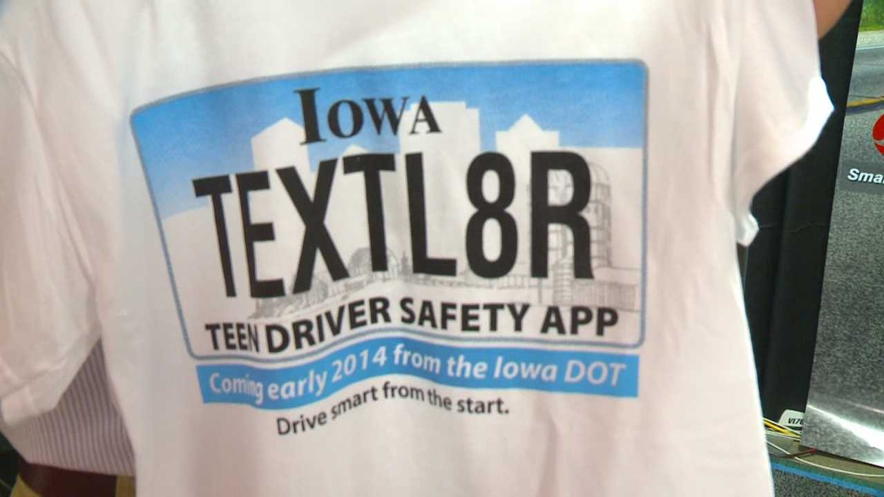 The state of Iowa intends to supply a smartphone app for 14- through 17-year-olds that will keep them from texting while driving.