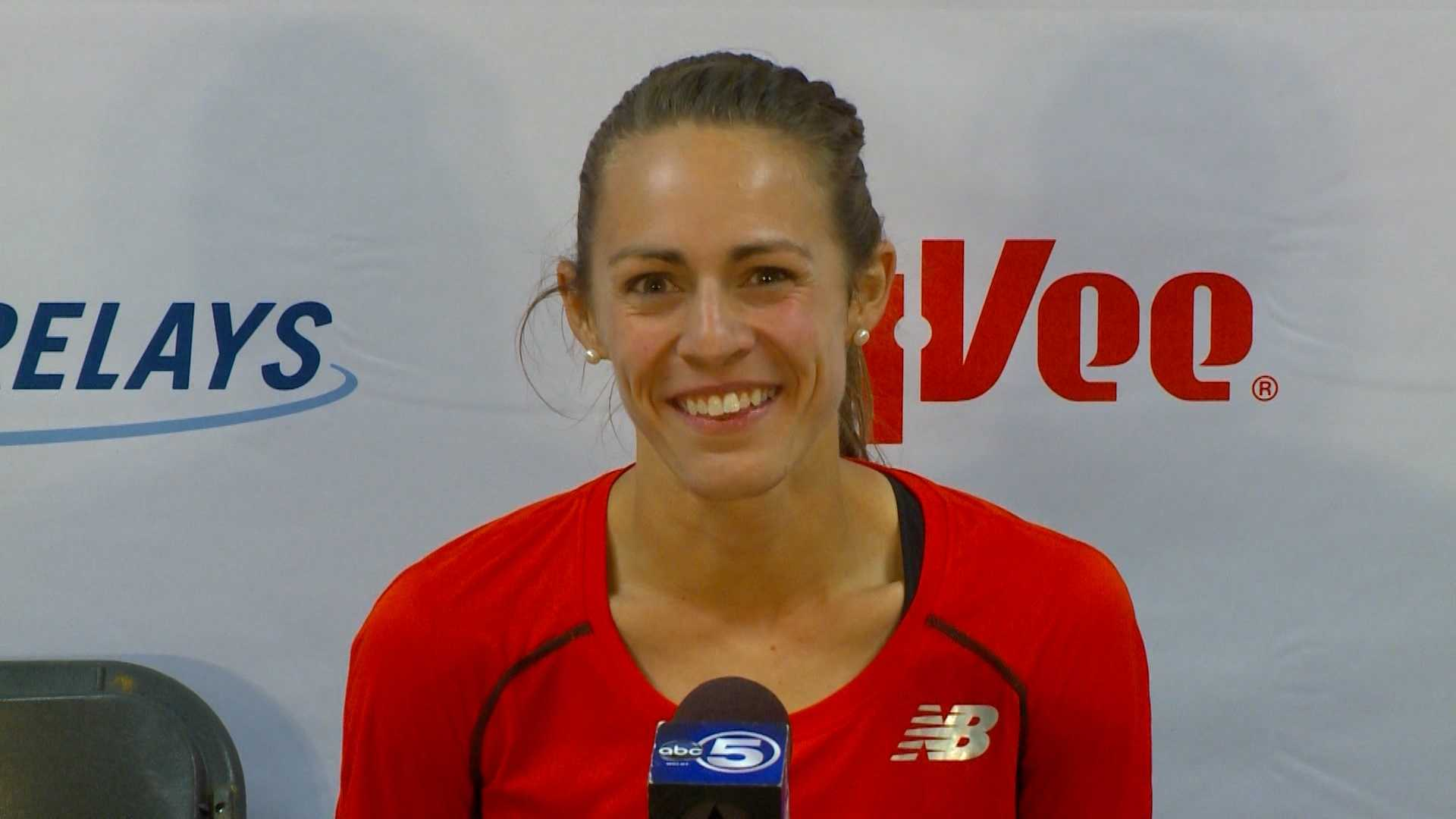Jenny Simpson has many reasons to smile