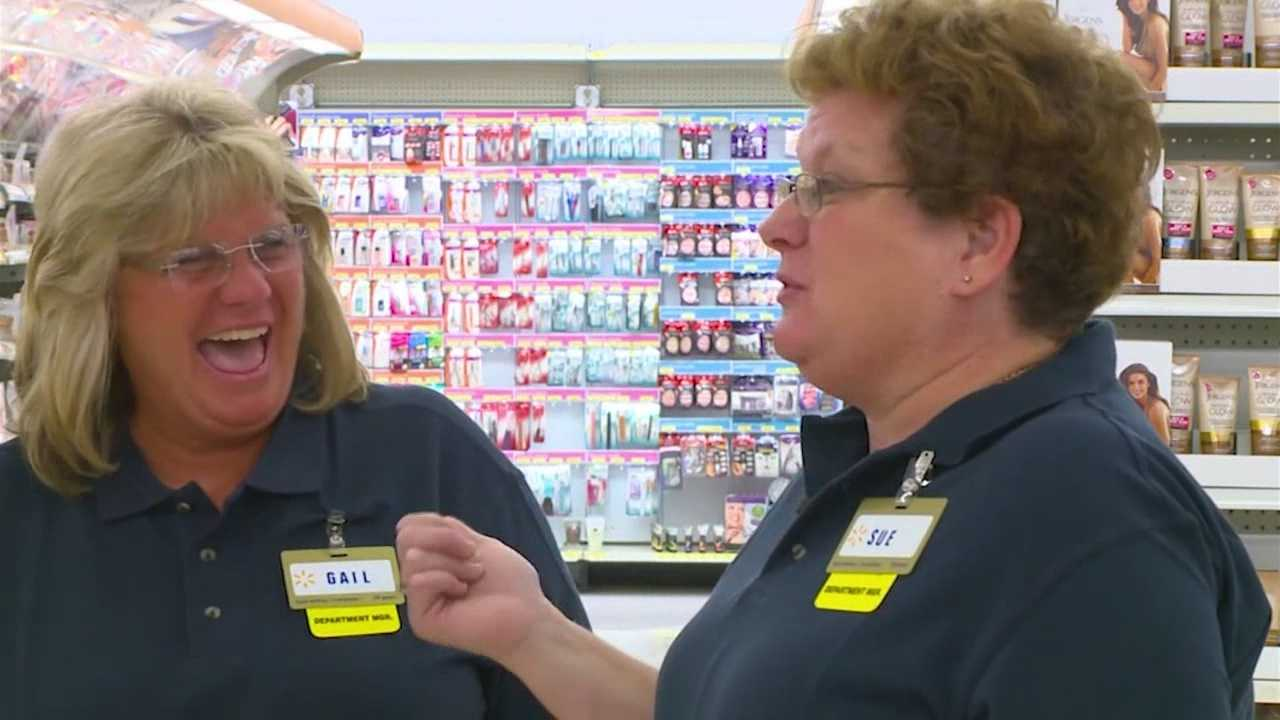 Two sisters work together at a Walmart in Ames for two decades.