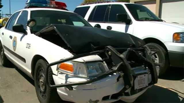 crash police car