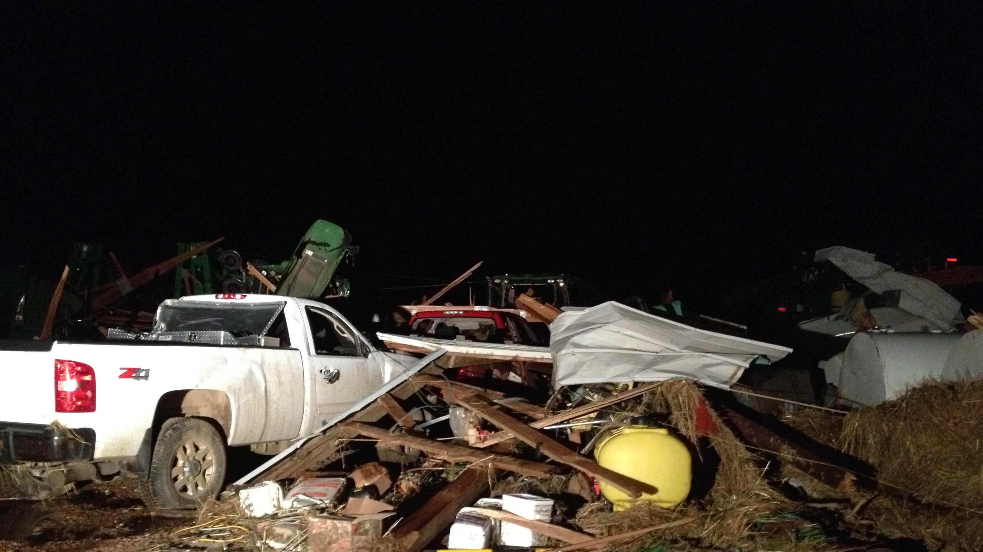 Storms damaged homes near Moville, Iowa. (photo via KETV.com)