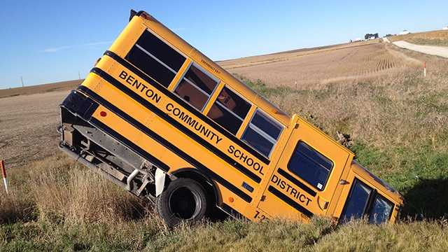 School bus crash near Van Horne