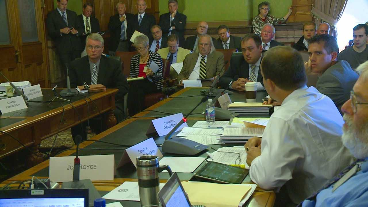 Police officers from across Iowa discuss their opposition to new rules being proposed for automated traffic enforcement systems in Iowa.