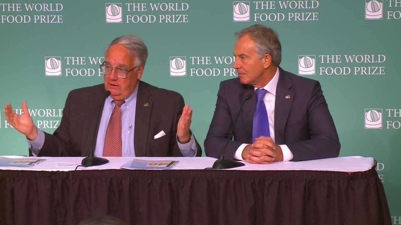 World leaders come to Iowa to talk about feeding the world.