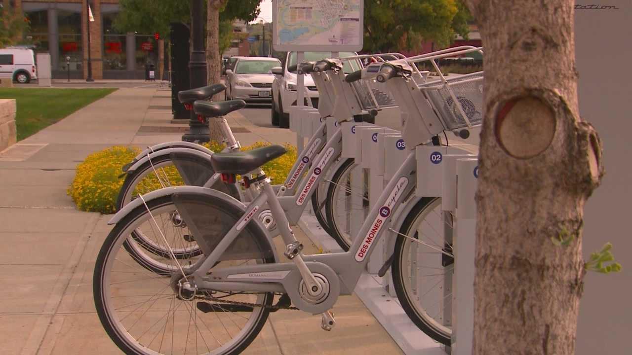 Bike rentals downtown  Des Moines