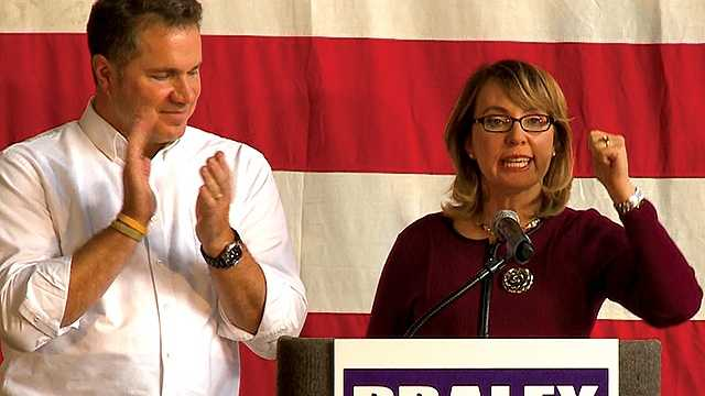 Bruce Braley and Gabby Giffords