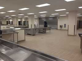 The kitchen area of the new prison.