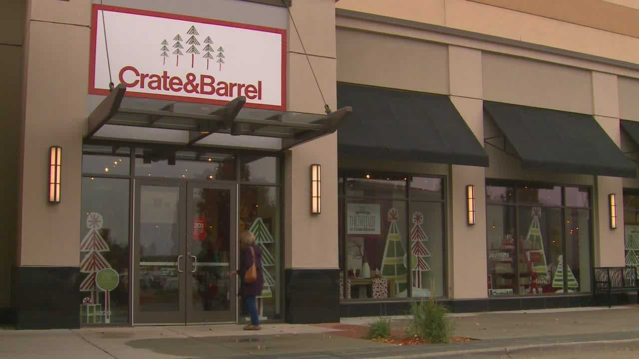 The holiday pop-up store for Crate and Barrel is located inside Jordan Creek Town Center.