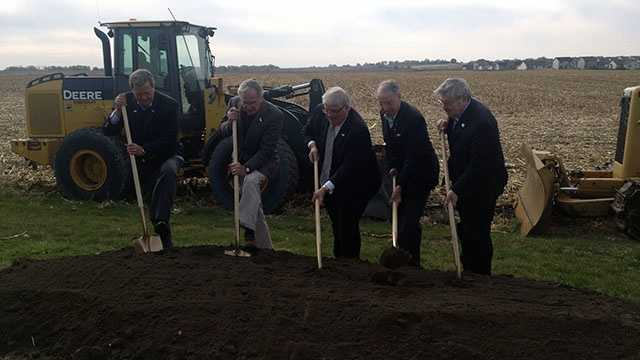 Ground breaking for another phase of the Alice's Road project in Waukee, Iowa.