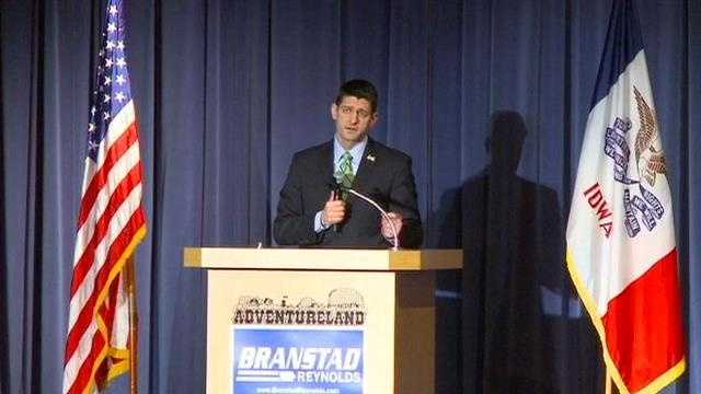 Paul Ryan speaks at Branstad party