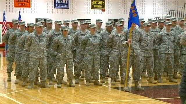 Different feel to Boone troop send-off