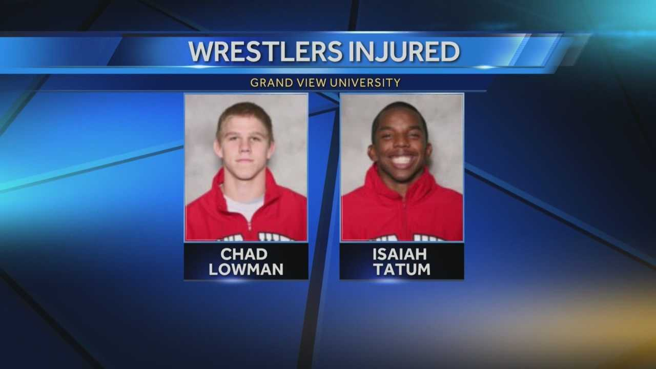 Grand view wrestlers hurt car crash