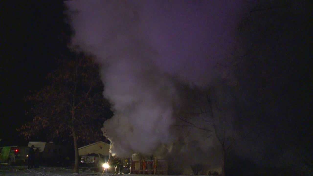 Authorities are investigating a fire that started at 1540 East 36th street in Des Moines late Wednesday night.