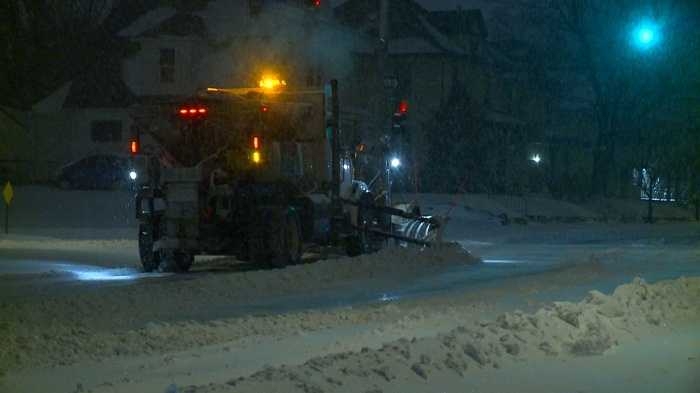 Public works department clears snow after storm