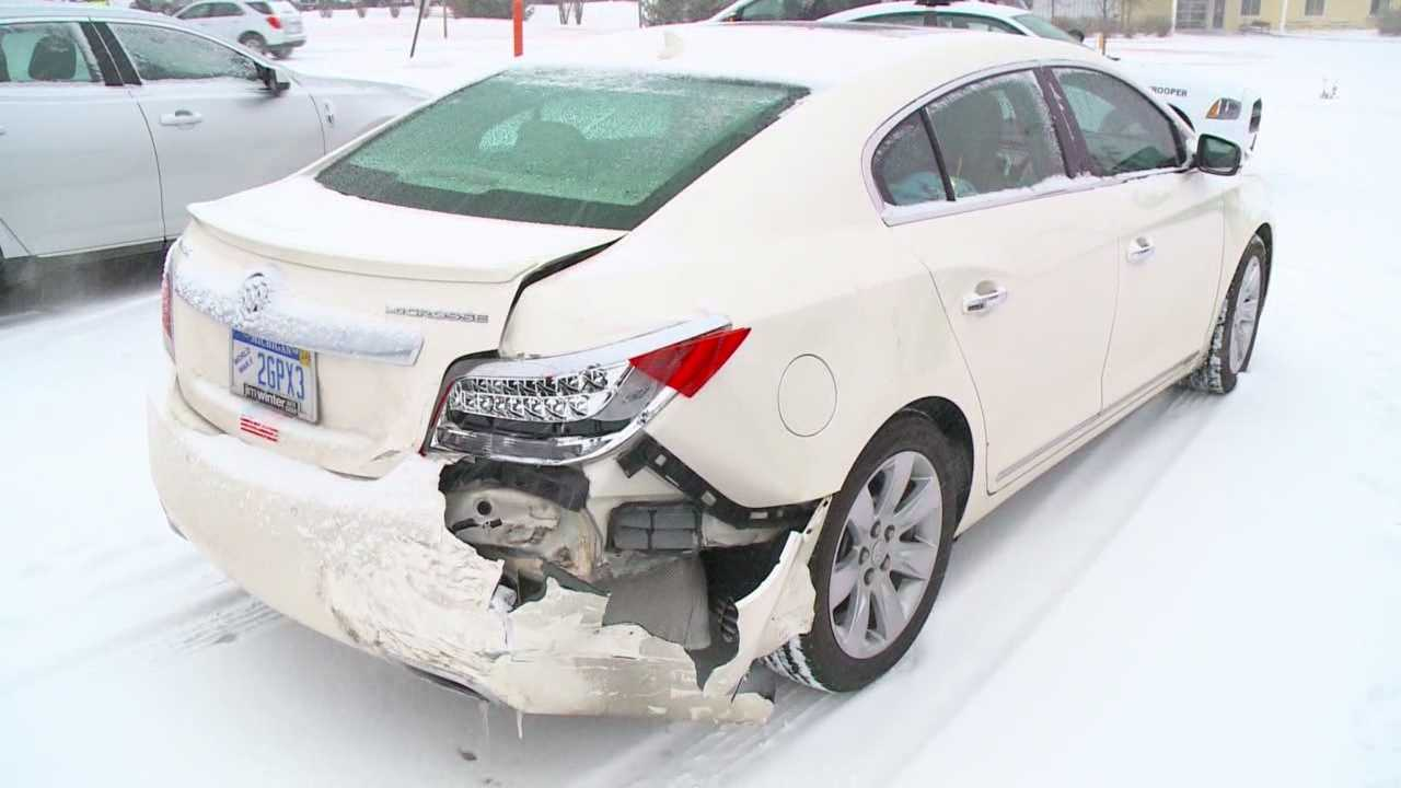 Many drivers were caught off guard by slick conditions Monday.