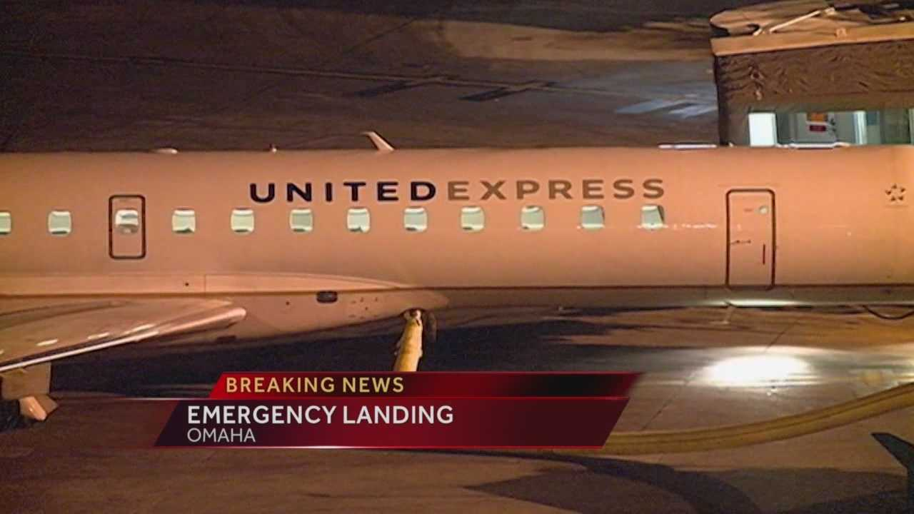 A passenger jet from Des Moines made an emergency landing, stranding dozens of passengers in Omaha overnight.