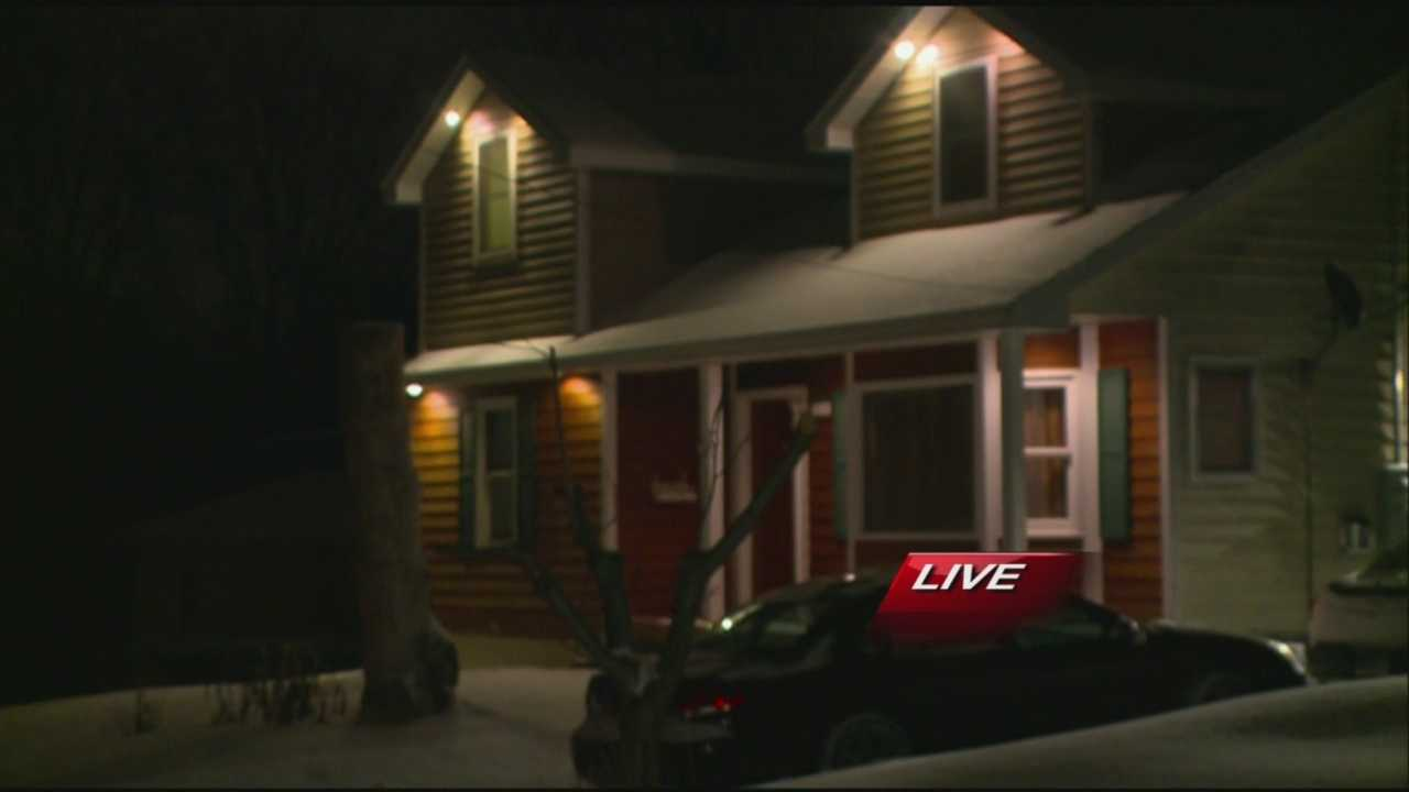 Des Moines police said shots were fired in an overnight home invasion.