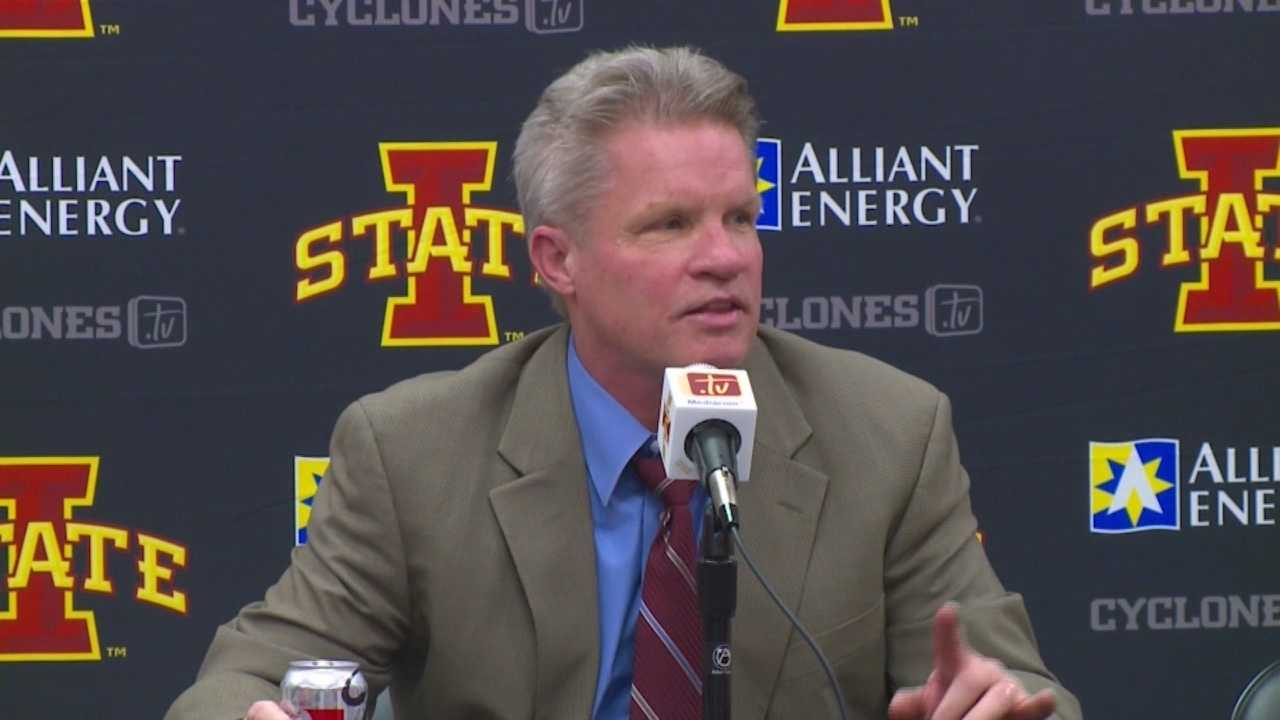 See what got Bill Fennelly so upset following the Cyclones loss to Oklahoma State.