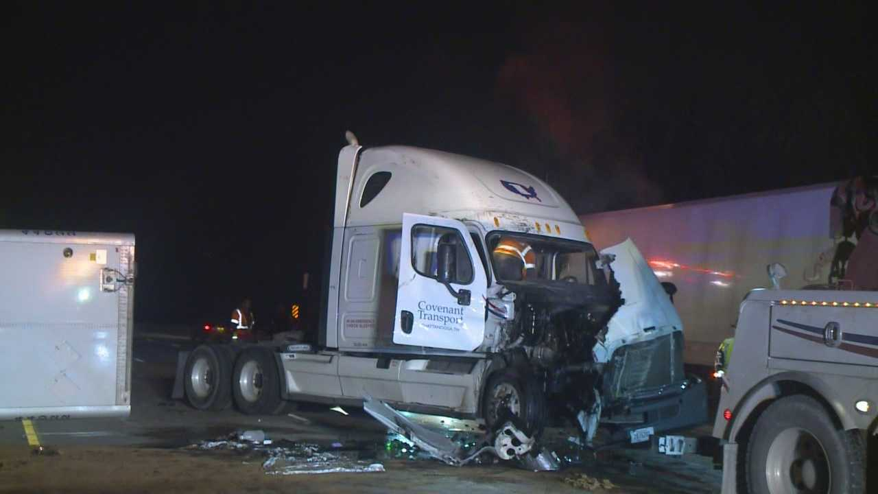 Officials have cleared the scene of an early morning semi rollover on Interstate 80/35.