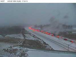 20-40 vehicle crash close Interstate 80 near Waukee