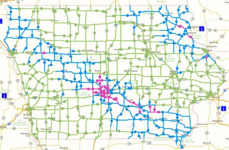 Heres what new colors on the road conditions map mean