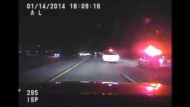 Raw Video: Chase up I-35 with woman, child in SUV