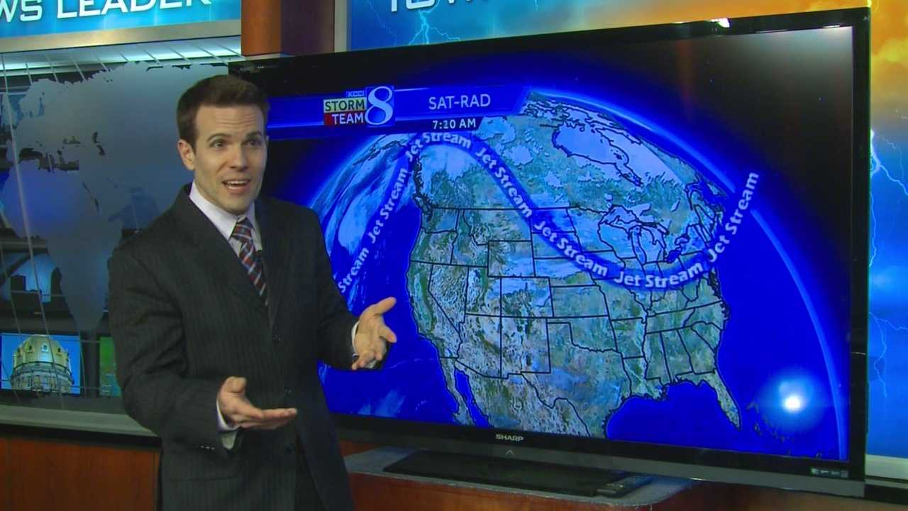 National Weather Service forecasters say you can keep an eye on the jet stream to see where temperatures will go.