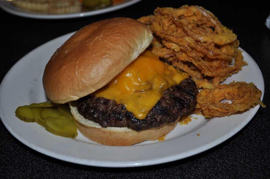 Ankeny Diner Hawkeye Burger.