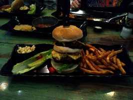 Trophy Burger at Uncle Bucks in Altoona.