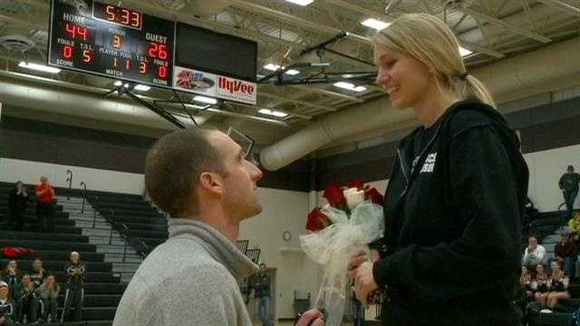 Madison Fontana got the surprise of her life during halftime Tuesday night.