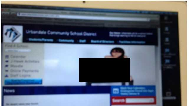 Hacked Urbandale School District website
