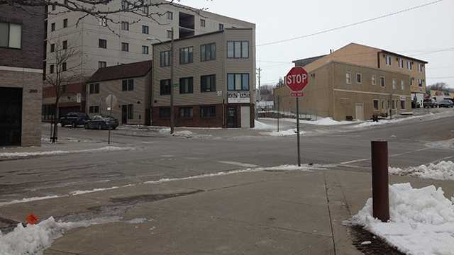 ames campus town street winter